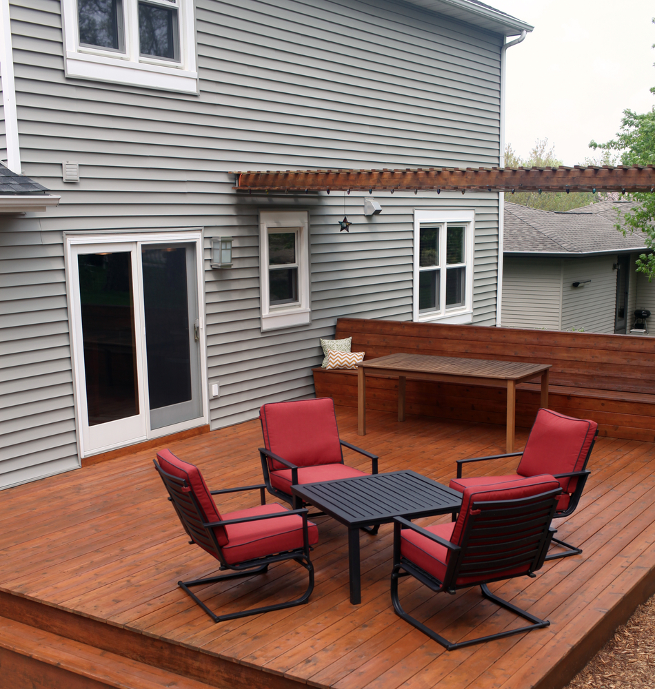 Backyard wood deck