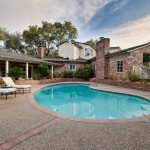 Small pool backyard