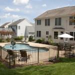 Surburban backyard pool