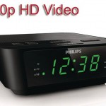 Philips alarm clock with a hidden 720p HD spy camera.