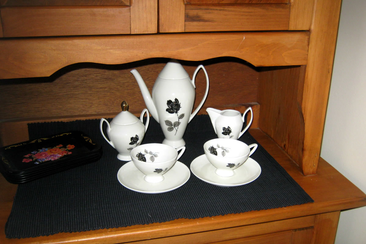 Classic vintage tea set is a must have in every rustic kitchen.