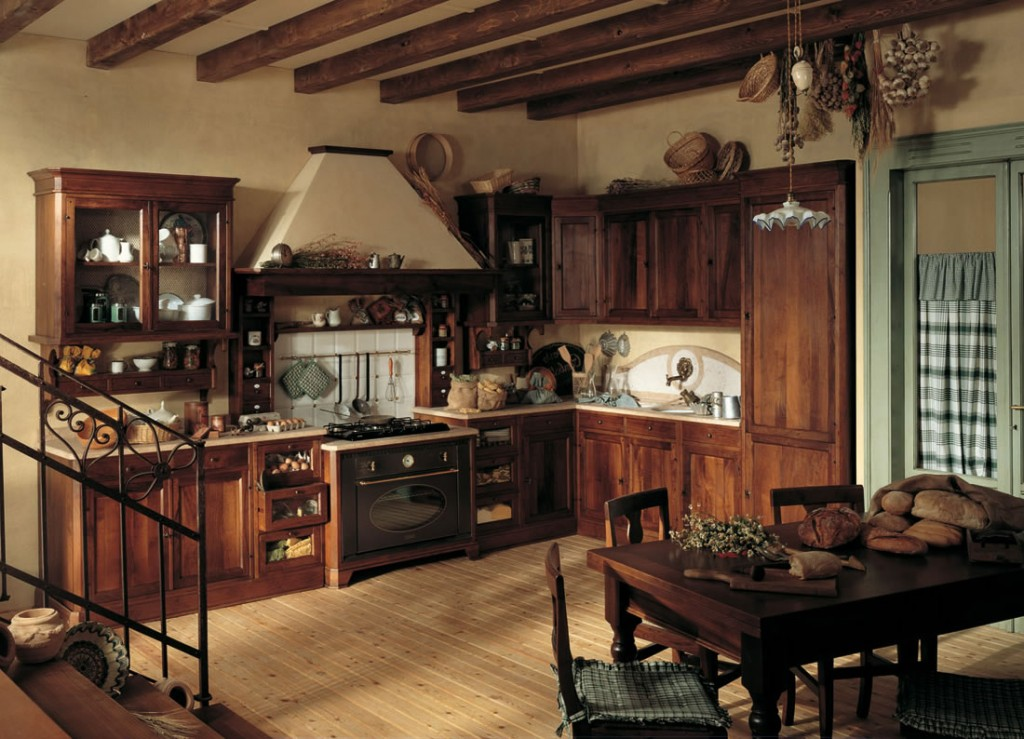 Rustic kitchen interior
