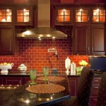 Rustic kitchen with brick wall